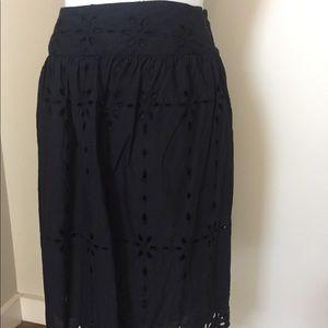 EUC Jones New York Signature black eyelet skirt
